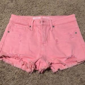 Adorable high rise pink cut off shorts